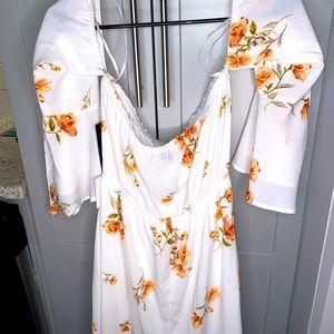 Off the shoulder flora dress